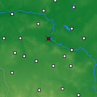 Nearby Forecast Locations - Nowa Sól - Map