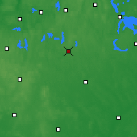 Nearby Forecast Locations - Szczytno - Map