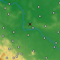 Nearby Forecast Locations - Wołów - Map
