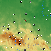 Nearby Forecast Locations - Złotoryja - Map