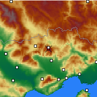 Nearby Forecast Locations - Falakro - Map