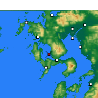 Nearby Forecast Locations - Nagasaki AP - Map