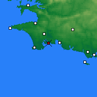Nearby Forecast Locations - Bénodet - Map