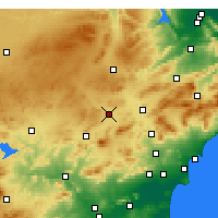Nearby Forecast Locations - Yecla - Map