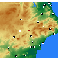 Nearby Forecast Locations - Villena - Map