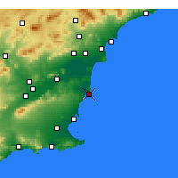 Nearby Forecast Locations - Torrevieja - Map