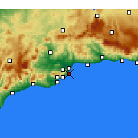 Nearby Forecast Locations - Torremolinos - Map