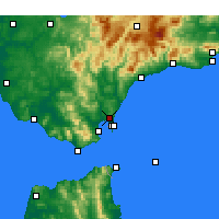 Nearby Forecast Locations - San Roque - Map