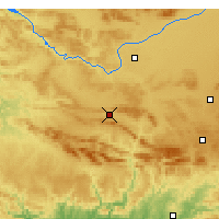 Nearby Forecast Locations - Puertollano - Map