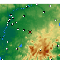 Nearby Forecast Locations - Morón de la Frontera - Map