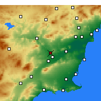 Nearby Forecast Locations - Molina de Segura - Map