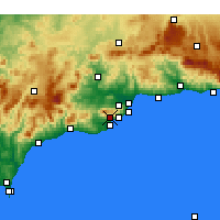 Nearby Forecast Locations - Mijas - Map