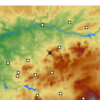 Nearby Forecast Locations - Martos - Map