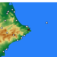 Nearby Forecast Locations - Xàbia - Map