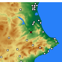 Nearby Forecast Locations - Xàtiva - Map