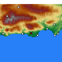 Nearby Forecast Locations - El Ejido - Map