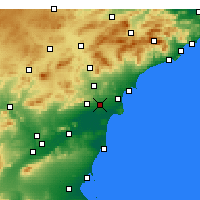 Nearby Forecast Locations - Guardamar del Segura - Map