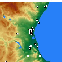 Nearby Forecast Locations - Xirivella - Map