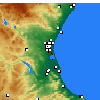 Nearby Forecast Locations - Catarroja - Map