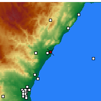 Nearby Forecast Locations - Benicàssim - Map