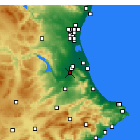 Nearby Forecast Locations - Carcaixent - Map