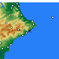 Nearby Forecast Locations - Calp - Map
