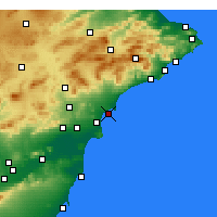Nearby Forecast Locations - Alicante - Map
