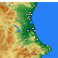 Nearby Forecast Locations - Algemesí - Map