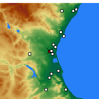 Nearby Forecast Locations - Aldaia - Map