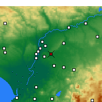 Nearby Forecast Locations - Alcalá de Guadaíra - Map