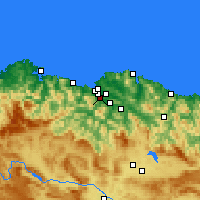 Nearby Forecast Locations - Barakaldo - Map
