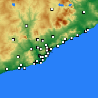 Nearby Forecast Locations - Santa Coloma de Gramenet - Map