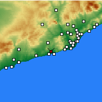 Nearby Forecast Locations - Sant Pere de Ribes - Map