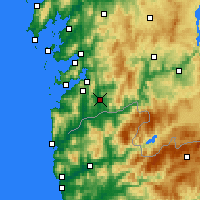 Nearby Forecast Locations - Ponteareas - Map