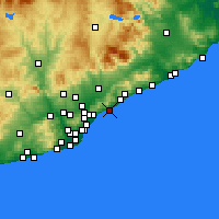 Nearby Forecast Locations - Premià de Mar - Map