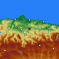 Nearby Forecast Locations - Pola de Siero - Map
