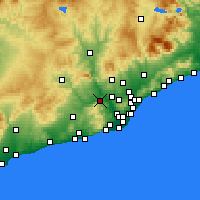 Nearby Forecast Locations - Martorell - Map