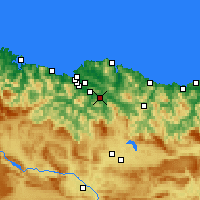 Nearby Forecast Locations - Galdakao - Map