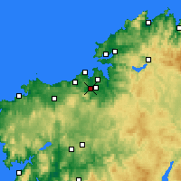 Nearby Forecast Locations - Culleredo - Map