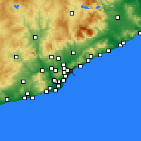 Nearby Forecast Locations - Badalona - Map