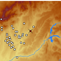 Nearby Forecast Locations - Azuqueca de Henares - Map