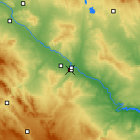 Nearby Forecast Locations - Oliver-Valdefierro - Map