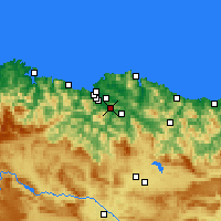 Nearby Forecast Locations - Santutxu - Map