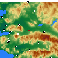 Nearby Forecast Locations - Turgutlu - Map
