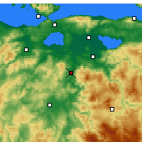 Nearby Forecast Locations - Susurluk - Map