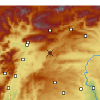 Nearby Forecast Locations - Pazarcık - Map