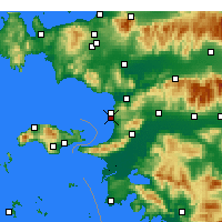 Nearby Forecast Locations - Kuşadası - Map