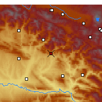Nearby Forecast Locations - Kozluk - Map