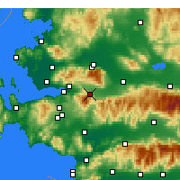 Nearby Forecast Locations - Kemalpaşa - Map