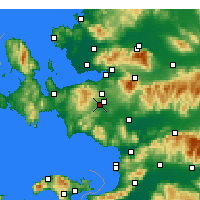Nearby Forecast Locations - Menderes - Map
